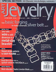 art jewelry magazine - available at EJR Beads