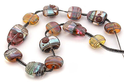 lampwork glass beads by Emma Ralph