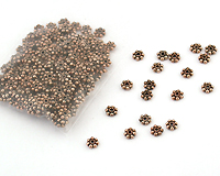 copper daisy spacer beads