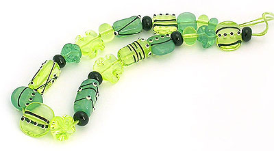 deco lampwork beads by Emma Ralph