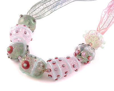 Relic lampwork glass beads