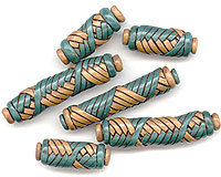 polymer clay mummy beads