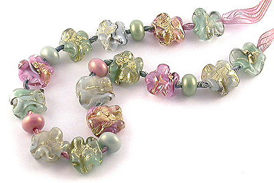 pageant lampwork glass beads