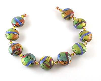 Polymer Clay Clarice Beads by Emma Ralph