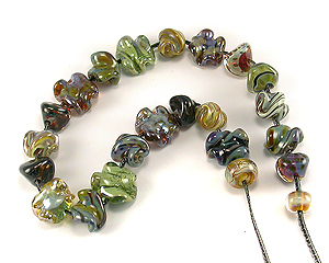 lampwork glass orphan beads sra