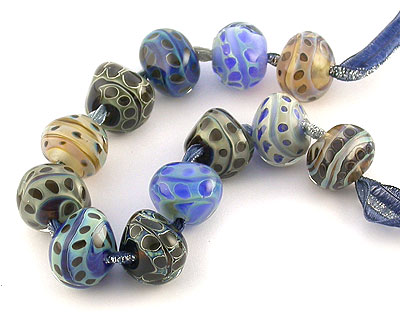 SRA annealed lampwork beads by Emma Ralph