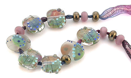 tutti fruitti SRA lampwork glass beads
