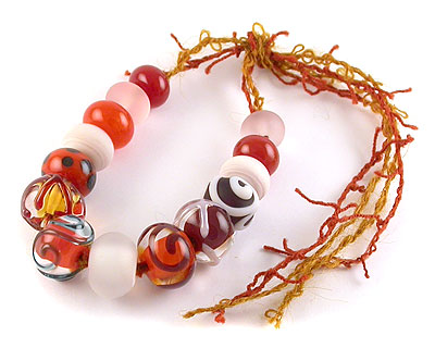 Caboodle - lampwork beads by Emma Ralph